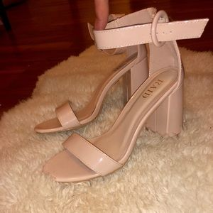 Shoes - Nude ankle strap sandal